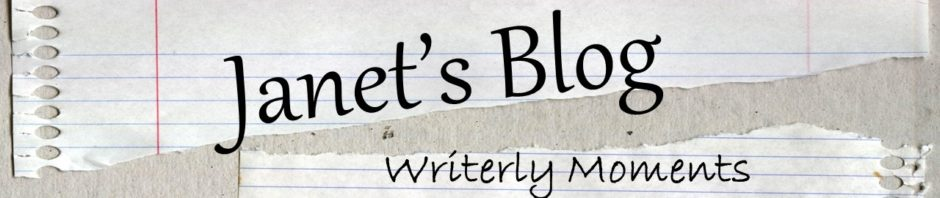 Writerly moments blog header